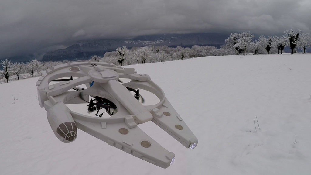 Quadcopter replica of the Millenium Falcon by Oliver C